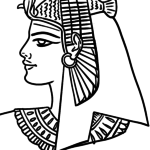 Coloring page pharaoh | people