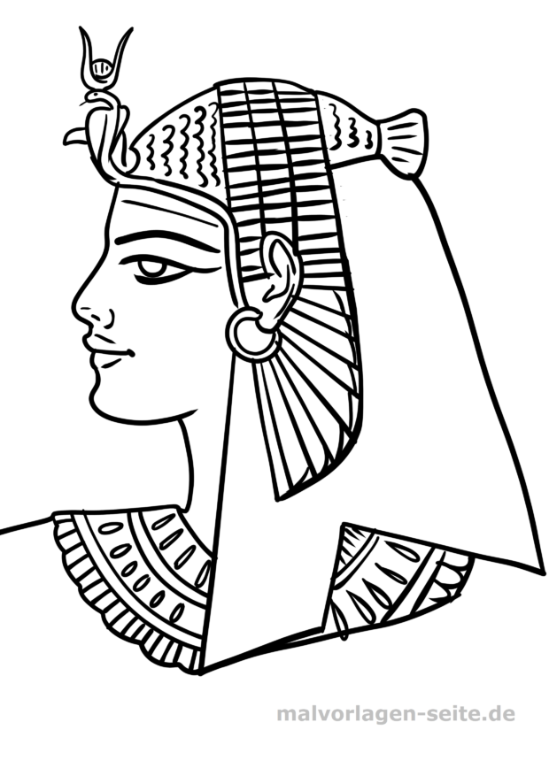 Malvorlage Pharao