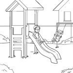 Coloring page playground | Children play