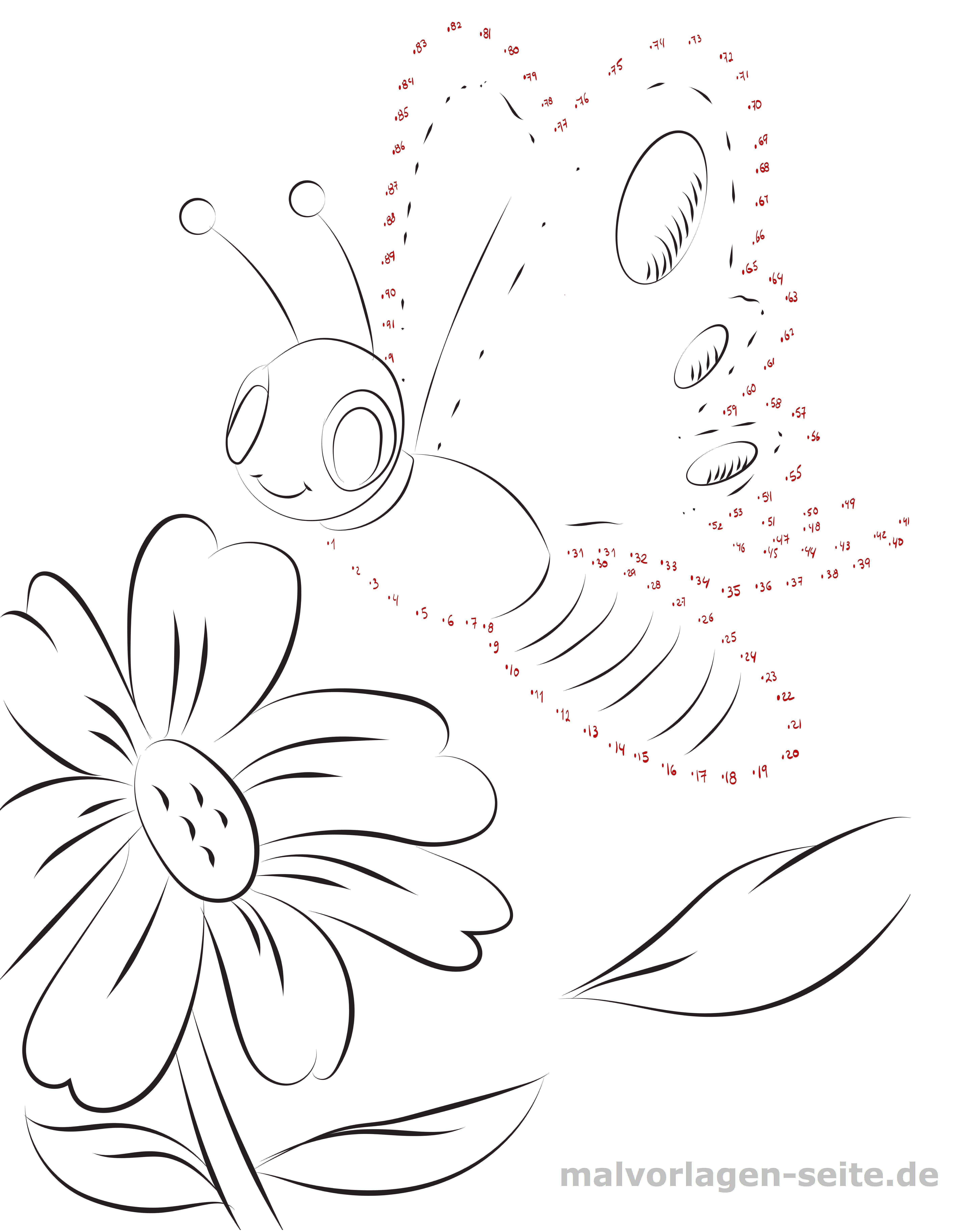 Punkt zu Punkt Schmetterling - Kostenlose Ausmalbilder