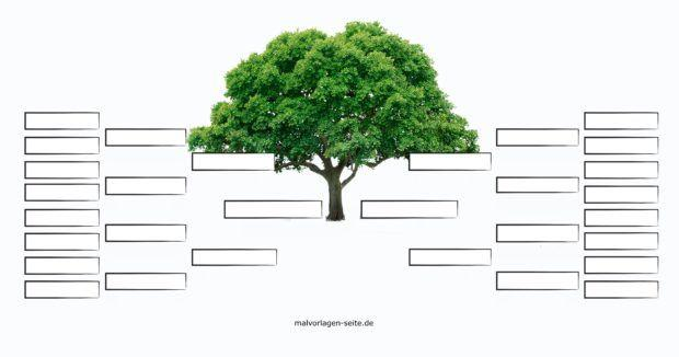Family tree blank without text