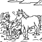 Боја страница коњ