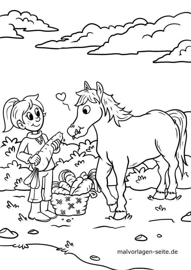 Malvorlage Pferd - Ausmalbilder kostenlos herunterladen