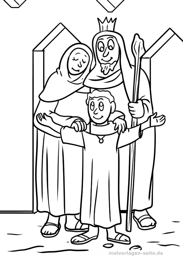 Coloring page Holy Family