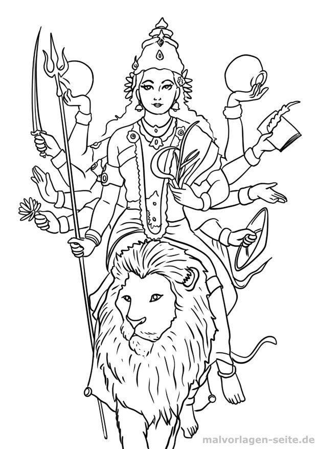 Coloring page Hinduism