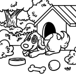 Coloring page dog | dogs
