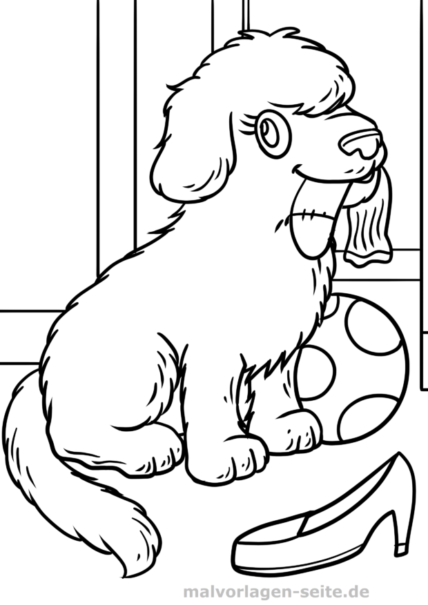ausmalbilder hunde welpen - zeichnen und färben