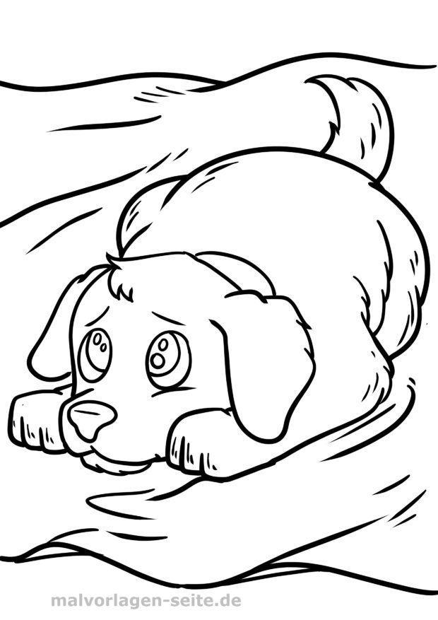 Mewarnai Halaman Anjing Halaman Mewarnai Gratis Untuk Diunduh
