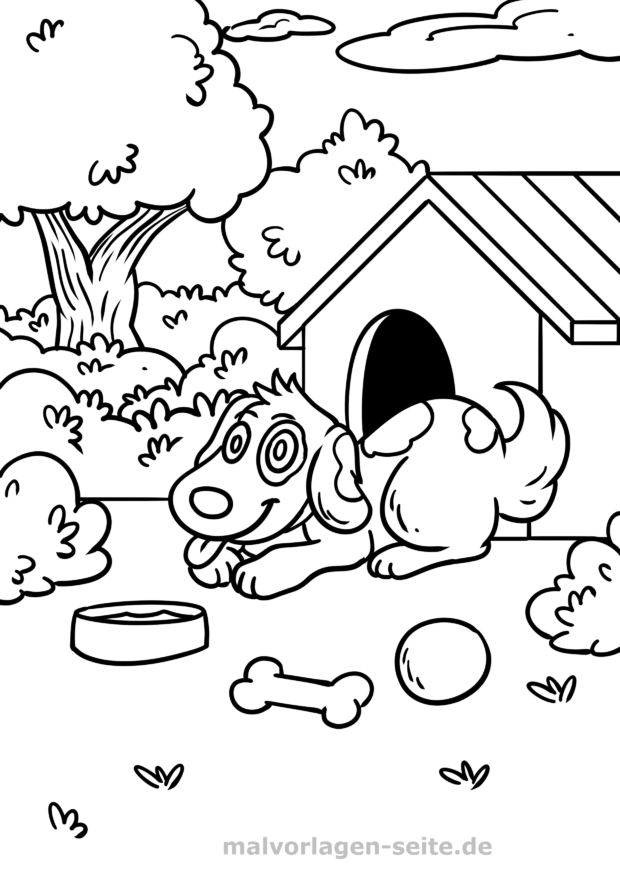 Perro de página para colorear | Páginas para colorear gratis para ...