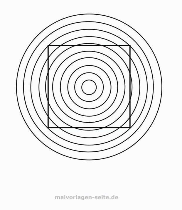 Optische Illusion – Gerade oder krumm?