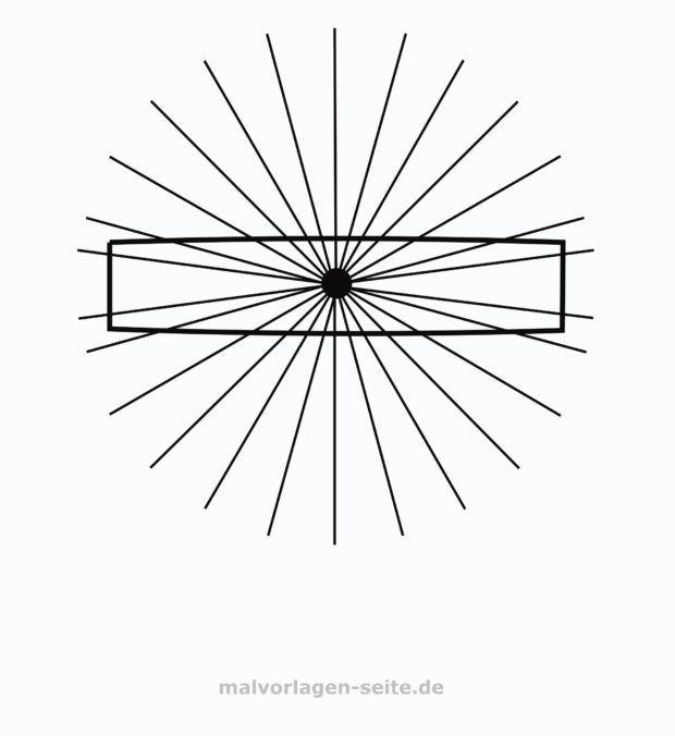Optische Illusion – Parallele Linien