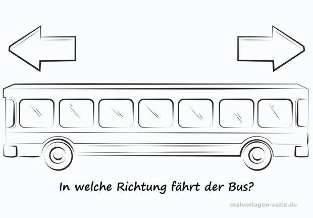 In welche Richtung fährt der Bus