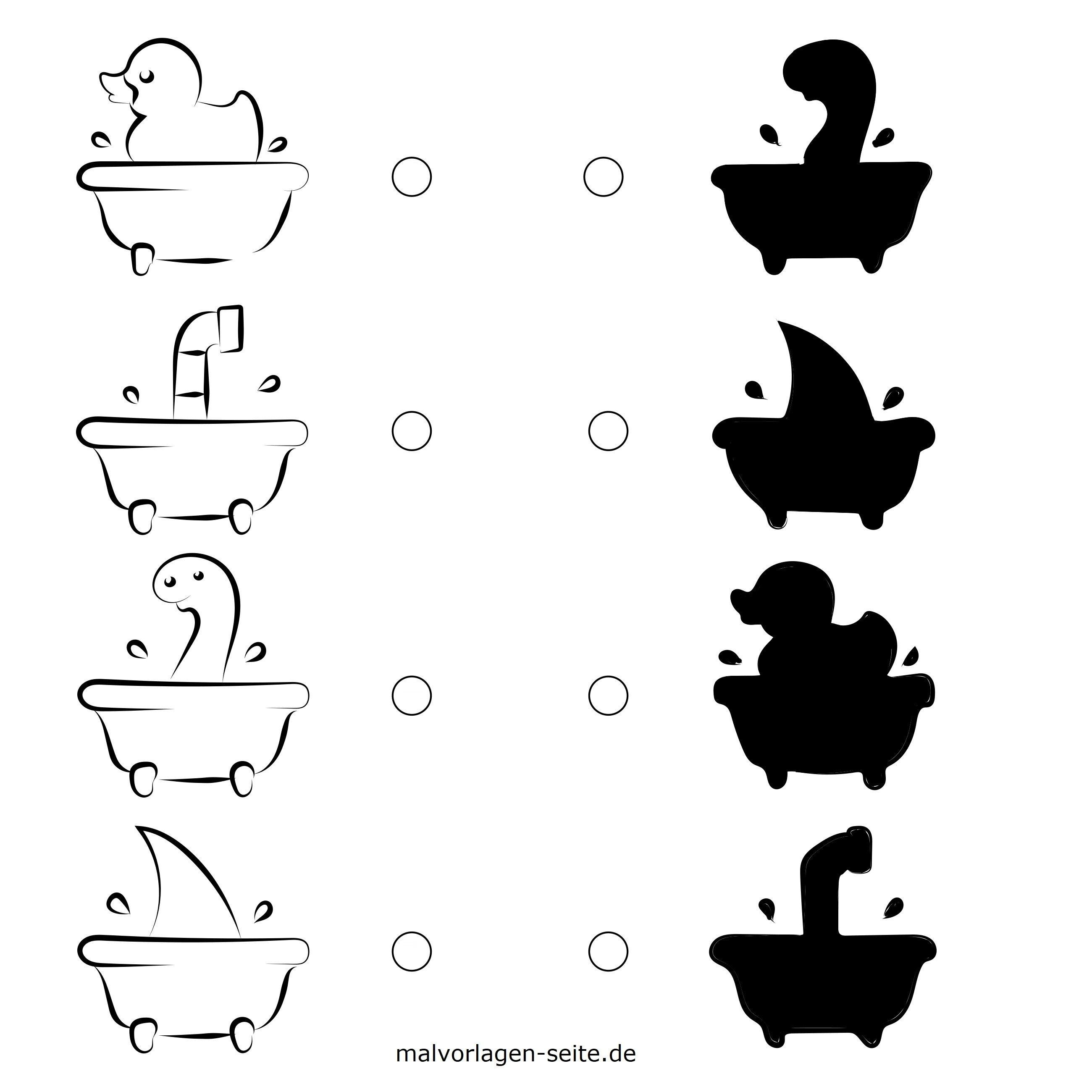 Schattenrätsel Für Kinder Rätsel Gratis Malvorlagen Zum Download