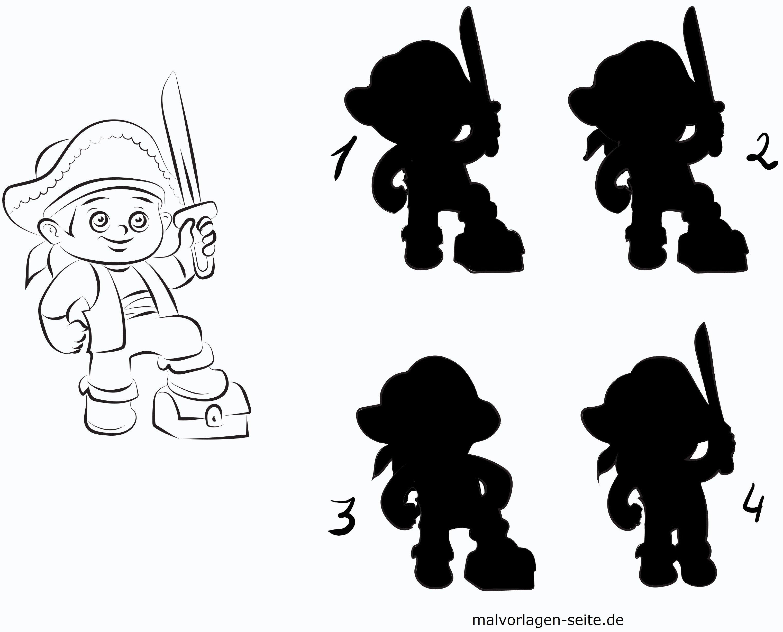 Schatten Rätsel Pirat Gratis Malvorlagen Zum Download