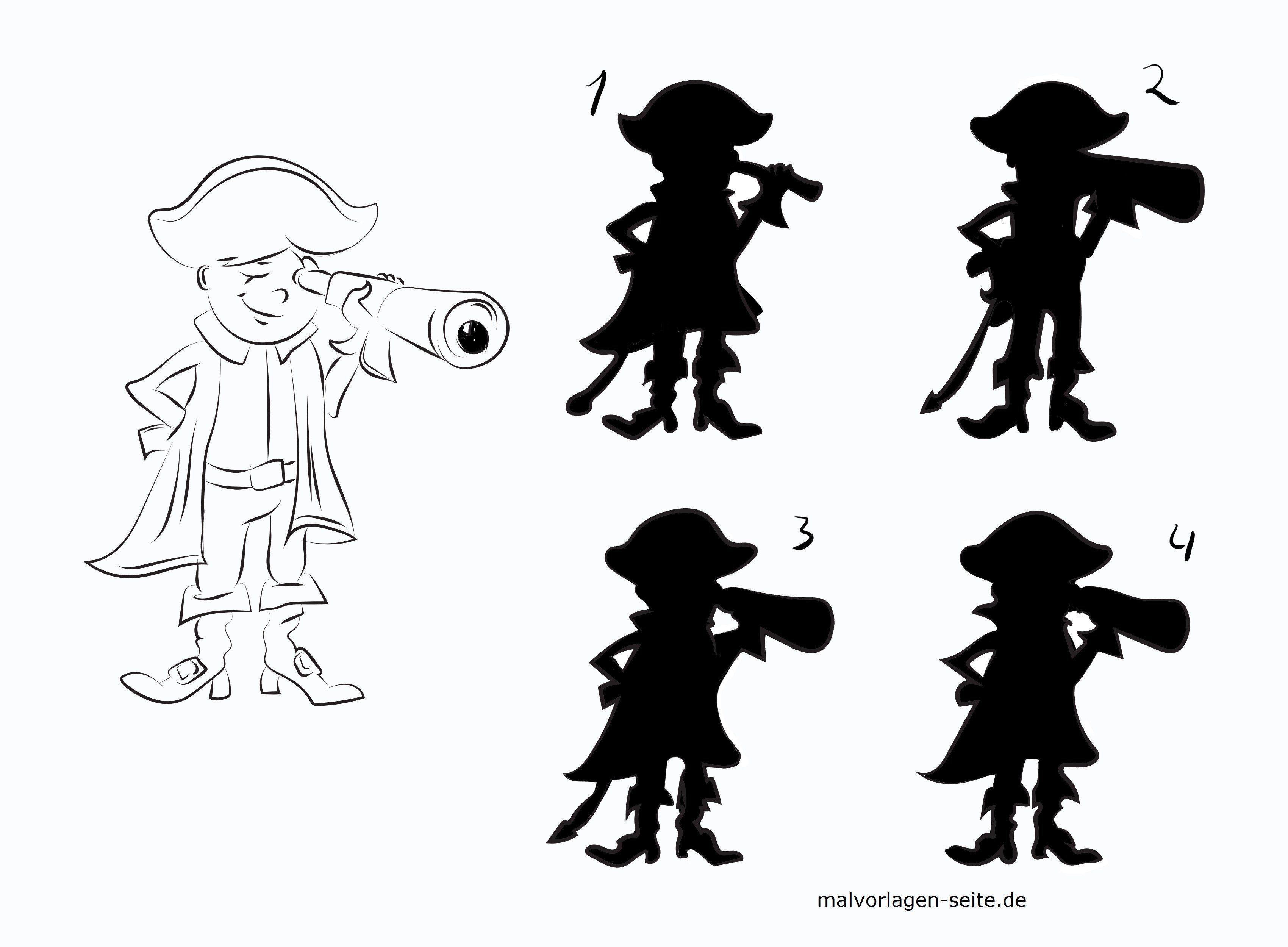 Schattenrätsel Pirat Rätsel Gratis Malvorlagen Zum Download