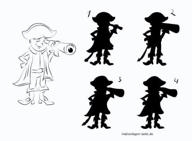 балдар үчүн Shadow Puzzle - каракчылык