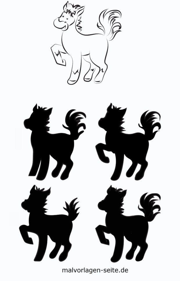 Schatten Rätsel für Kinder - Tiere