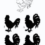 Animaux de puzzle Shadow - coq
