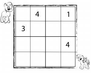 Sudoku por infanoj 4x4