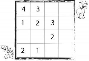 Sudoku 4x4 por infanoj
