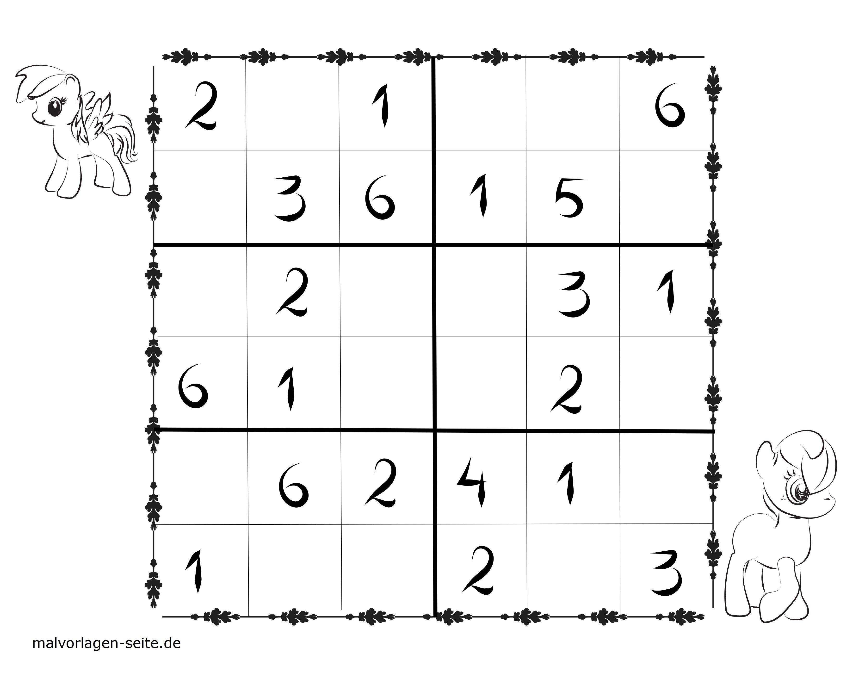Sudoku Vorlagen Für Kinder 6x6 Kostenlos Herunterladen Und