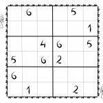 Sudoku fyrir börn 6x6