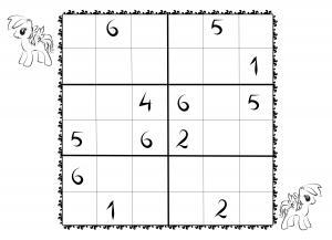 photo regarding 6x6 Sudoku Printable called Obtain and print sudoku templates for young children 6x6 for no cost