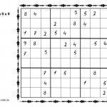 Sudoku txantiloiak 9 x 9 puzzleak