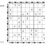 Шаблоны Судоку 9x9 Пазлы - Бесплатные раскраски