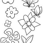 Coloring page flowers flowers