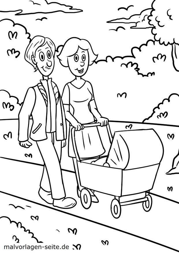 Malvorlage Familie Kinderwagen Gratis Malvorlagen Zum Download