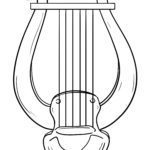 Coloring page lyre | Musical instruments