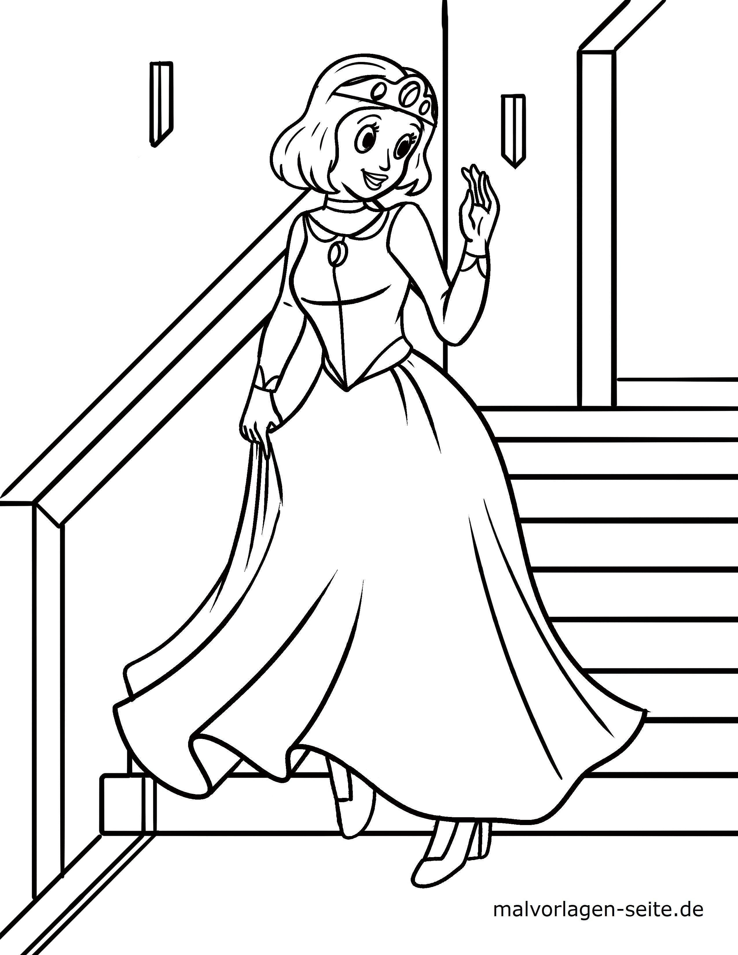 Malvorlage Prinzessin Ausmalbilder Kostenlos