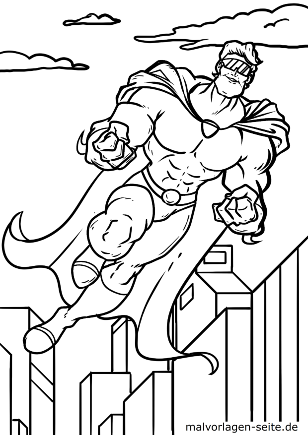 Coloriage super-héros