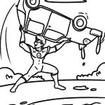 সুপারহিরো রঙের পৃষ্ঠাগুলি - বিনামূল্যে রঙিন পৃষ্ঠাগুলি