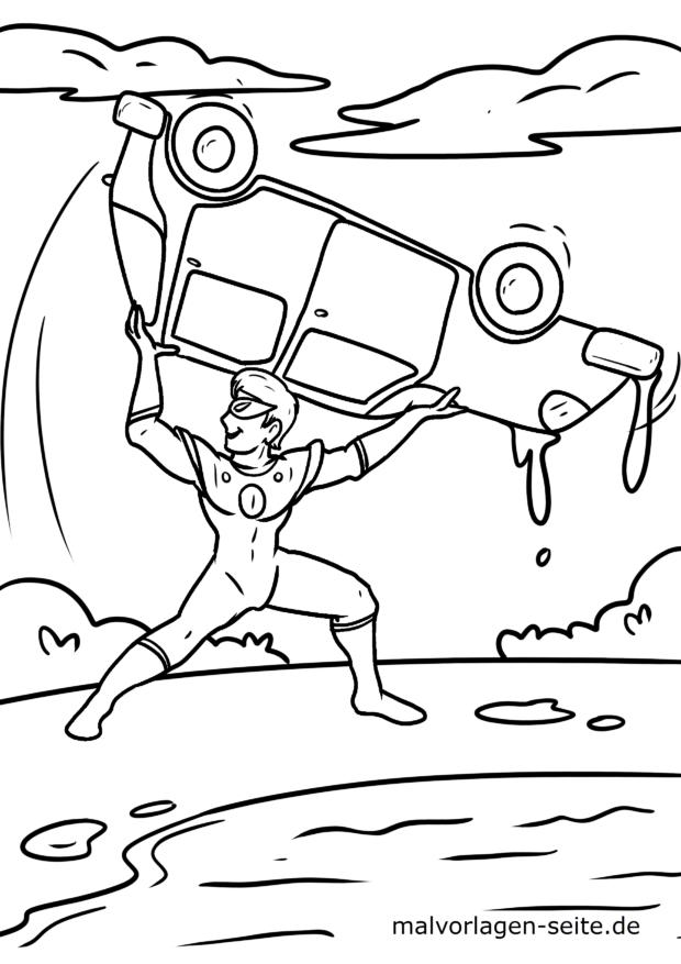 Malvorlage Superheld