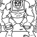 Coloring page superhero