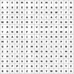 Letter puzzles / word grid car brands