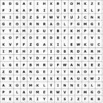 Puzzle písmena / slovo mřížky ovoce