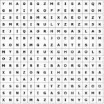 Word puzzle word grid summer