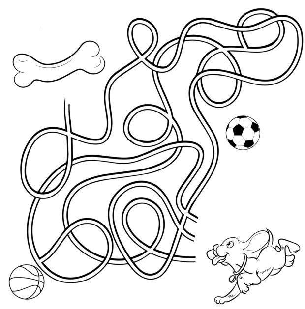 Labyrinth für Kinder – Finde den Weg