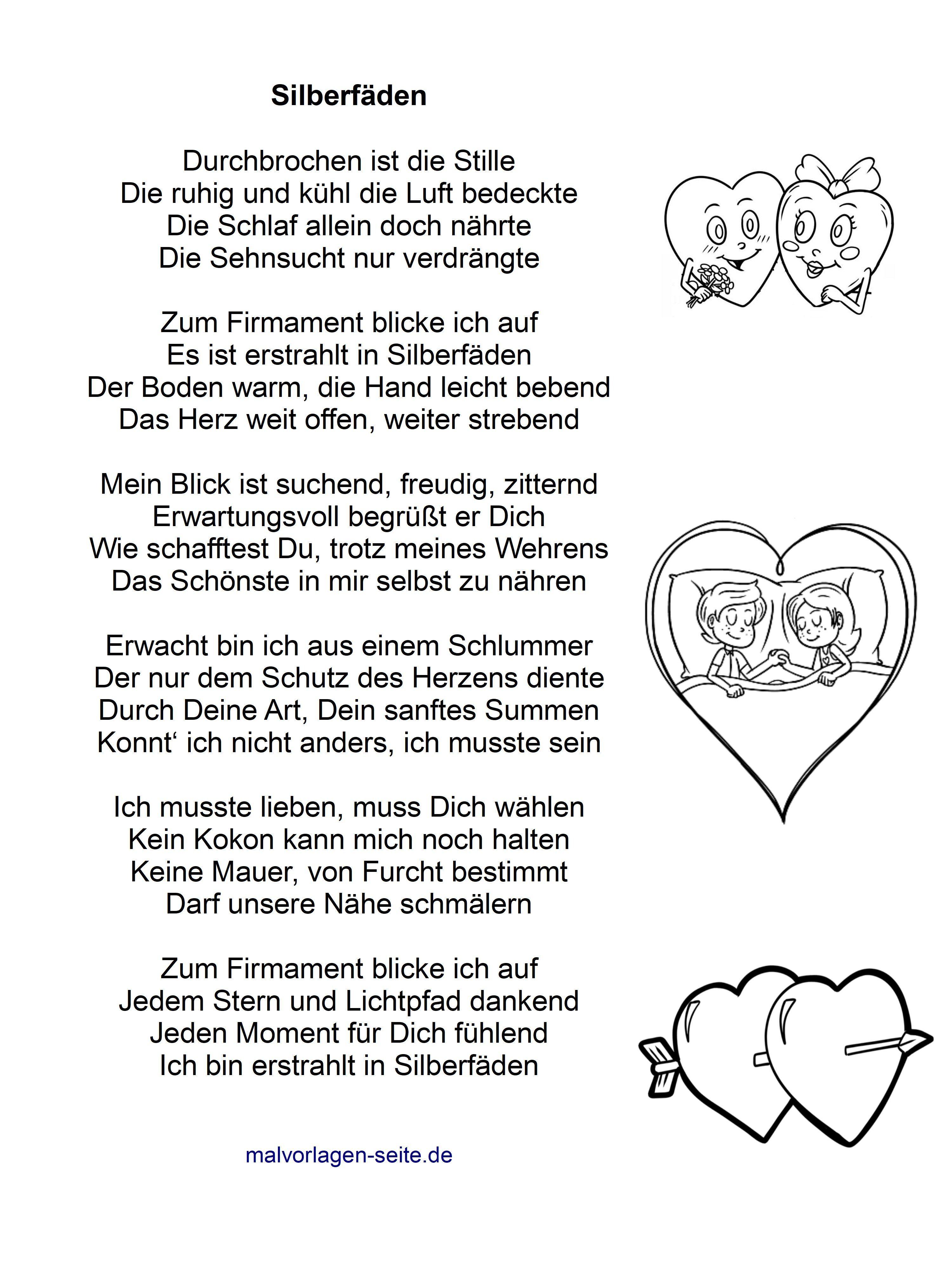 Schönes Liebesgedicht - Silberfäden - Gedicht über die Liebe