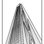 Farve side skyskraber | bygning