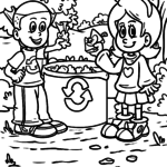 Coloring page environmental protection