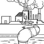 Malvorlage Umweltverschmutzung zum Ausmalen
