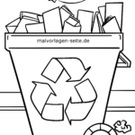 Coloring page environmental protection recycling