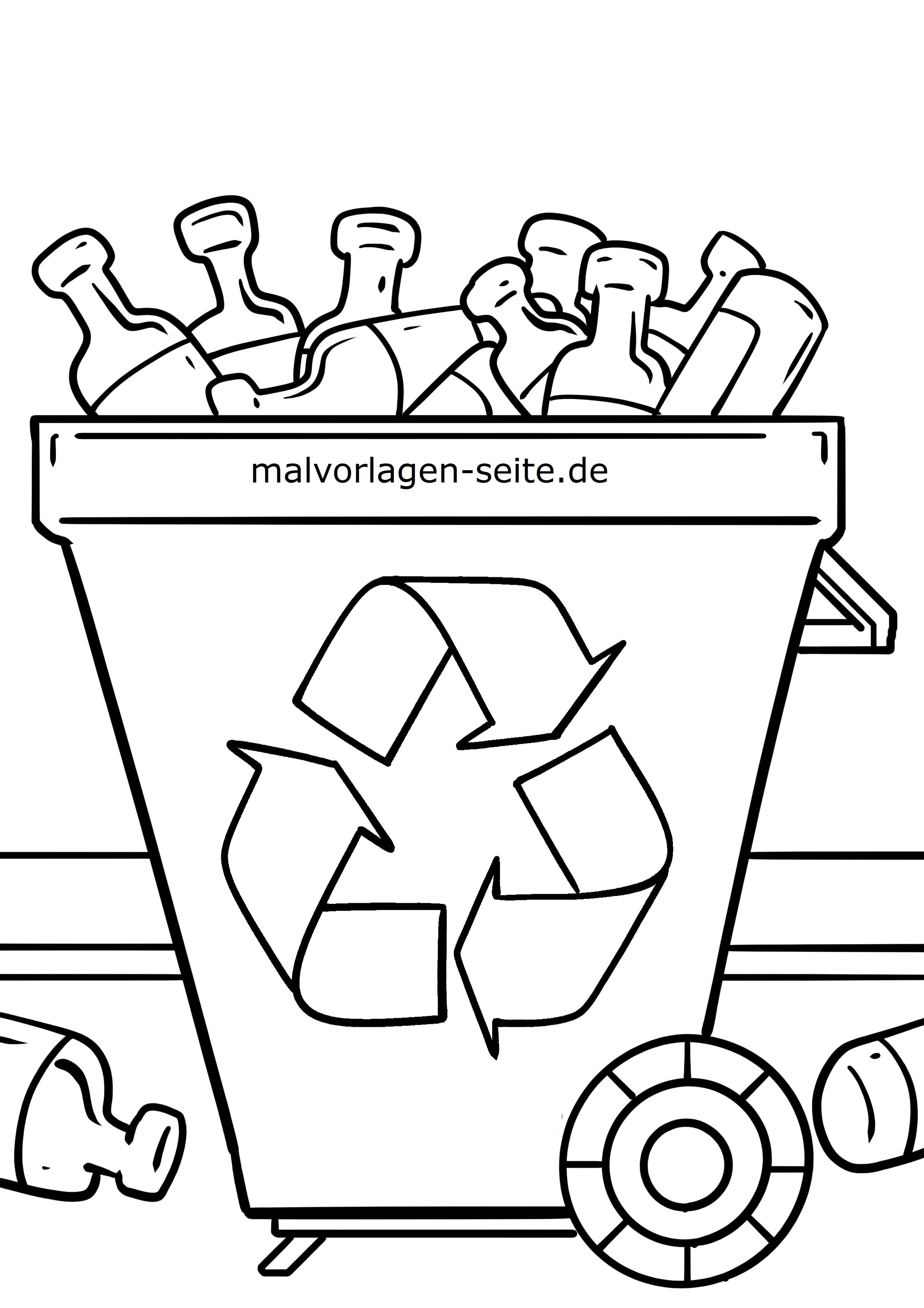 Malvorlage Umweltschutz Recycling - Kostenlose Ausmalbilder