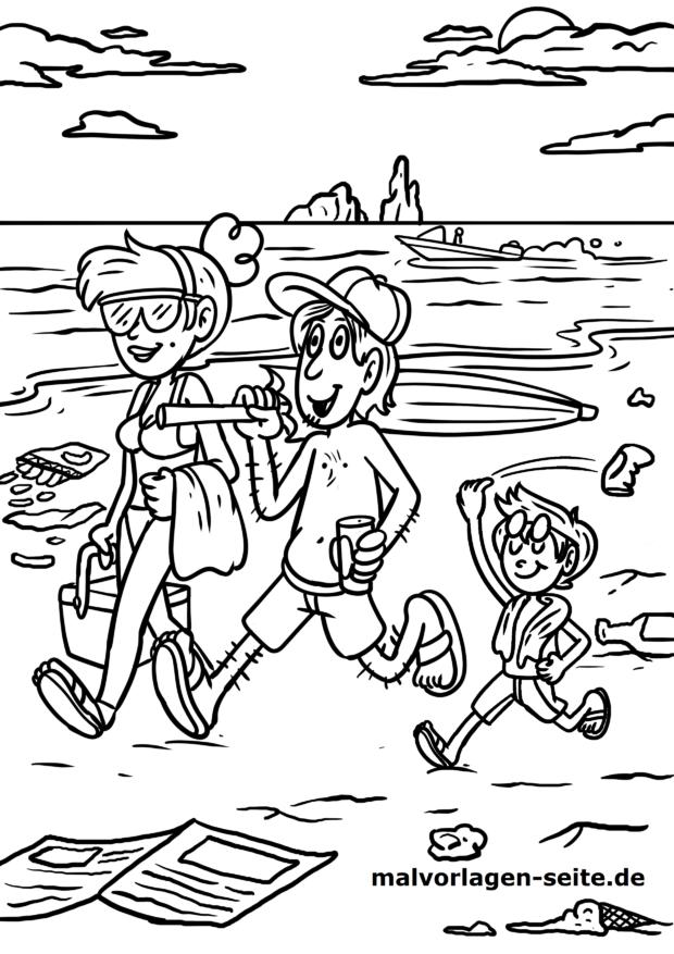 malvorlagen urlaub strand - x13 ein bild zeichnen