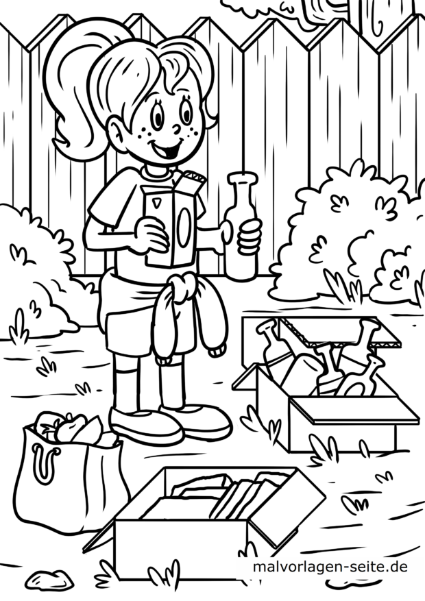 Coloring page waste separation