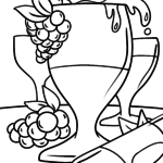 Coloring page drinking wine | eat